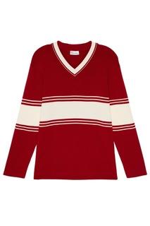 Шерстяной пуловер красного цвета RED Valentino
