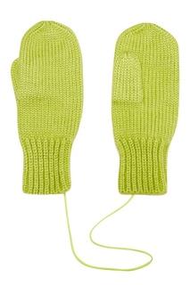 Зеленые варежки Knittedkiss