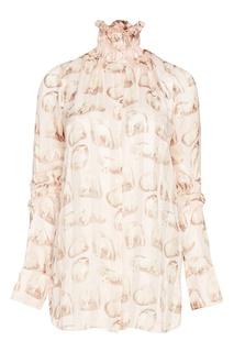 IШелковая блузка с принтом Carven