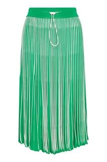 Зеленая плиссированная юбка Valentino