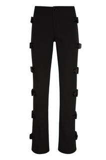 Черные брюки с пряжками по бокам Daily Paper