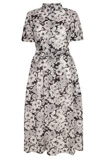 Хлопковое платье-рубашка с цветами Lisa Marie Fernandez