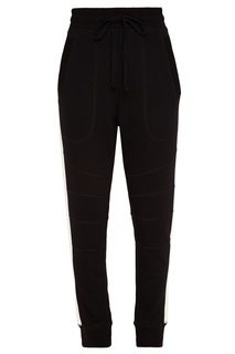 Черные брюки с белыми лампасами Zasport