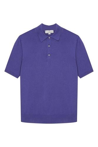 Фиолетовый хлопковый джемпер-поло