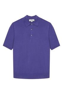 Фиолетовый хлопковый джемпер-поло Canali