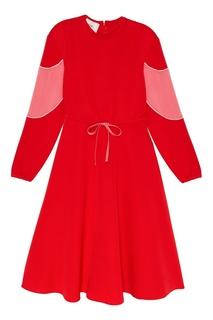 Платье с завязками на талии Valentino