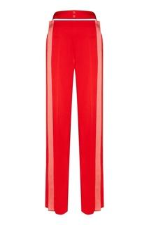 Красные брюки с полосками Valentino