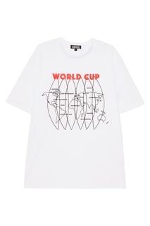 Белая футболка с картой Artem Krivda