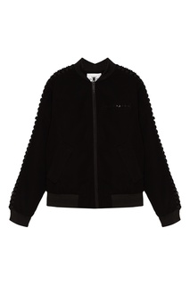 Черная куртка-бомбер со шнуровкой на рукавах Daily Paper