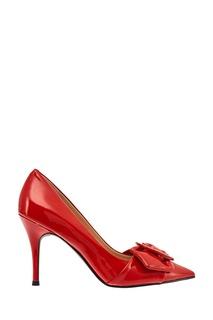 Красные лакированные туфли с пряжкой What FOR