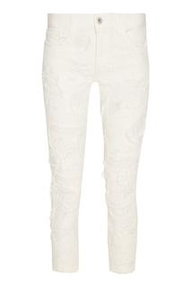 Белые джинсы с прорезями Junya Watanabe