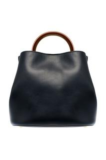 Кожаная сумка с круглой ручкой Marni