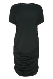 Платье-футболка с драпировкой снизу Carven