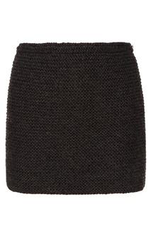 Серая мини-юбка Knittedkiss