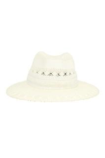 Белая соломенная шляпа Henrietta Maison Michel