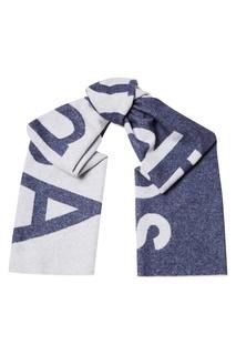 Синий шарф с логотипом Toronty Logo Acne Studios