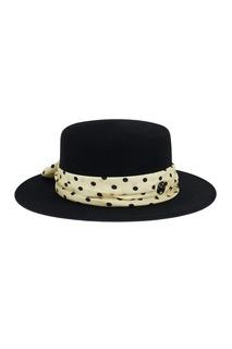 Черная фетровая шляпа с бантом Kiki Maison Michel