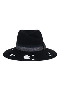 Черная фетровая шляпа с перфорацией Virginie Maison Michel