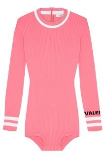Вязаное боди розового цвета Valentino