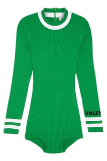 Вязаное боди зеленого цвета Valentino