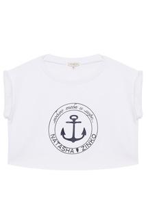 Короткая футболка с принтом Natasha Zinko