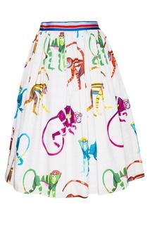 Хлопковая юбка-миди с принтом Stella Jean