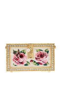 Клатч с розами и кристаллами Dolce & Gabbana