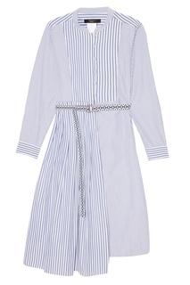 Хлопковое платье-рубашка в полоску Max Mara Weekend