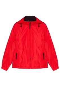 Красная куртка с капюшоном Zasport