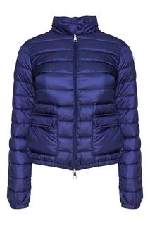 Синяя стеганая куртка Moncler