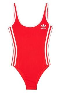 Красное боди 3-Stripes Adidas