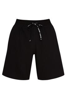 Черные шорты с завязками Zasport