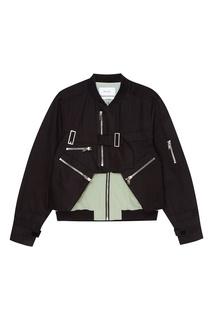 Хлопковая комбинированная куртка Heliot Emil