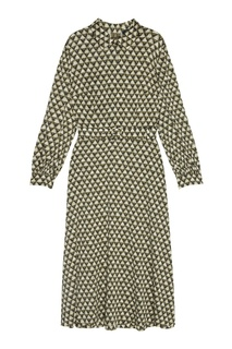 Шелковое платье с принтом Alena Akhmadullina