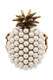 Кольцо в виде ананаса с жемчужинами Pineapple Gucci