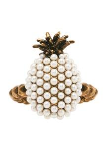 Кольцо с жемчужинами Pineapple Gucci