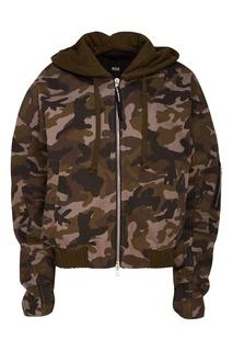 Хлопковая куртка с камуфляжным принтом N.D.G Studio
