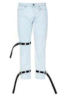 Голубые джинсы с ремнями Heliot Emil