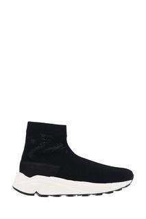 Черные текстильные кроссовки на белой подошве N.D.G Studio