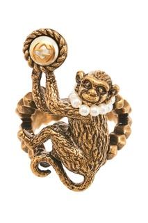 Кольцо с жемчужинами Monkey Gucci