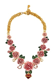 Колье с розами и цветами Dolce & Gabbana