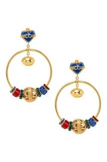 Серьги-кольца с разноцветными подвесками Dolce & Gabbana