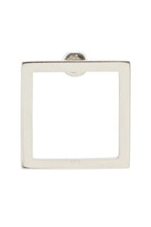 Серебряные серьги Square Belki Rings