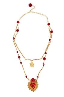 Колье с розами и сердцем Dolce & Gabbana