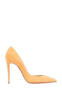 Оранжевые туфли из замши Iriza 100 Christian Louboutin