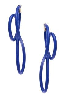 Синие серьги Elastic Magnet Balenciaga