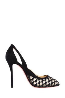 Черные туфли с вышивкой K-rakas 100 Christian Louboutin