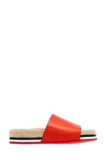 Кожаные сандалии на плетеной подошве Moncler