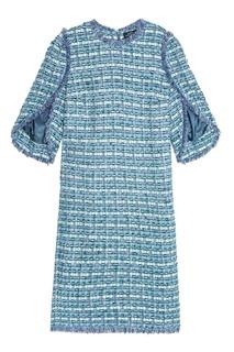 Голубое платье из твида Alena Akhmadullina