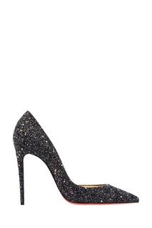 Черные туфли с глиттером Iriza 100 Christian Louboutin